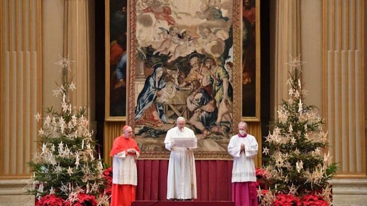 Під час різдвяного послання Папа Римський Франциск згадав про Україну