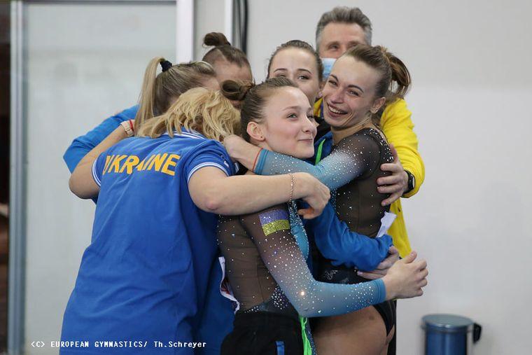 Українки вперше в історії перемогли на чемпіонаті Європи зі спортивної гімнастики в командному багатоборстві