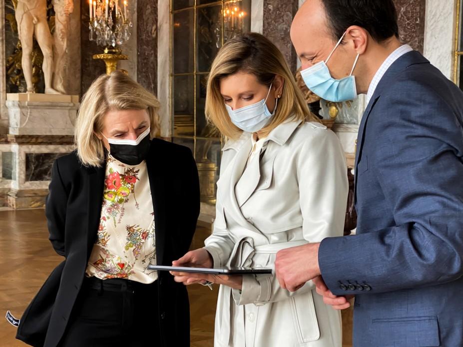 Перша леді України запустила україномовний аудіогід у Версальському палаці