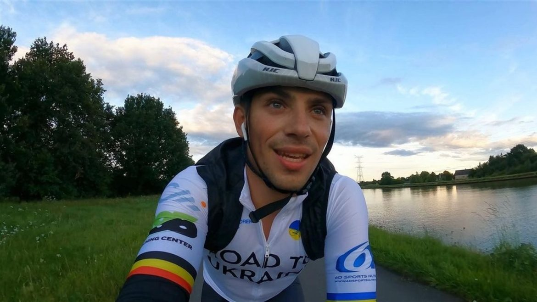 Бельгієць з українським корінням вирушив у благодійний велопробіг